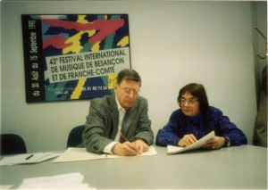 Ursula Mamlok with Herbert Blomstedt